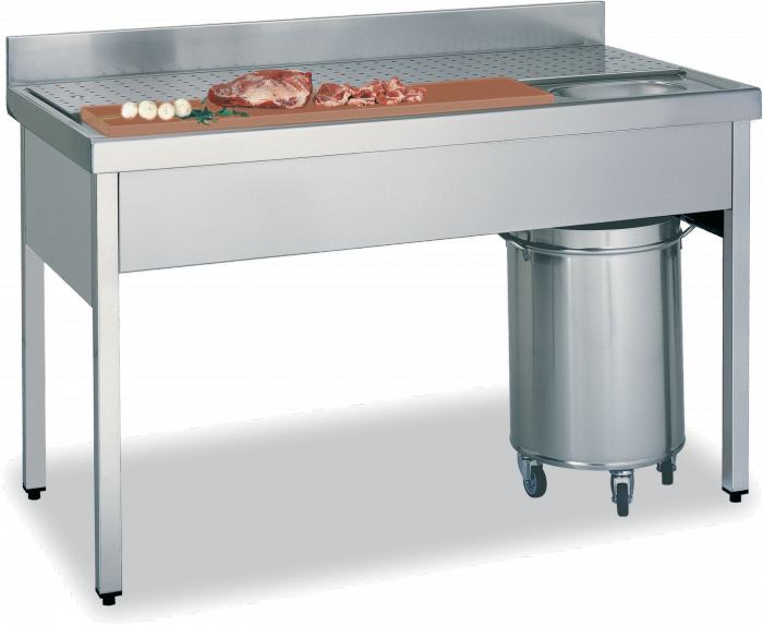 Productos muebles auxiliares for Medidas de cocina industrial